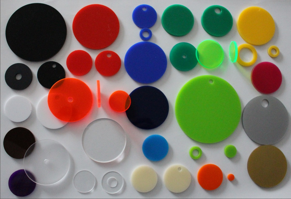 coloured plastic discs