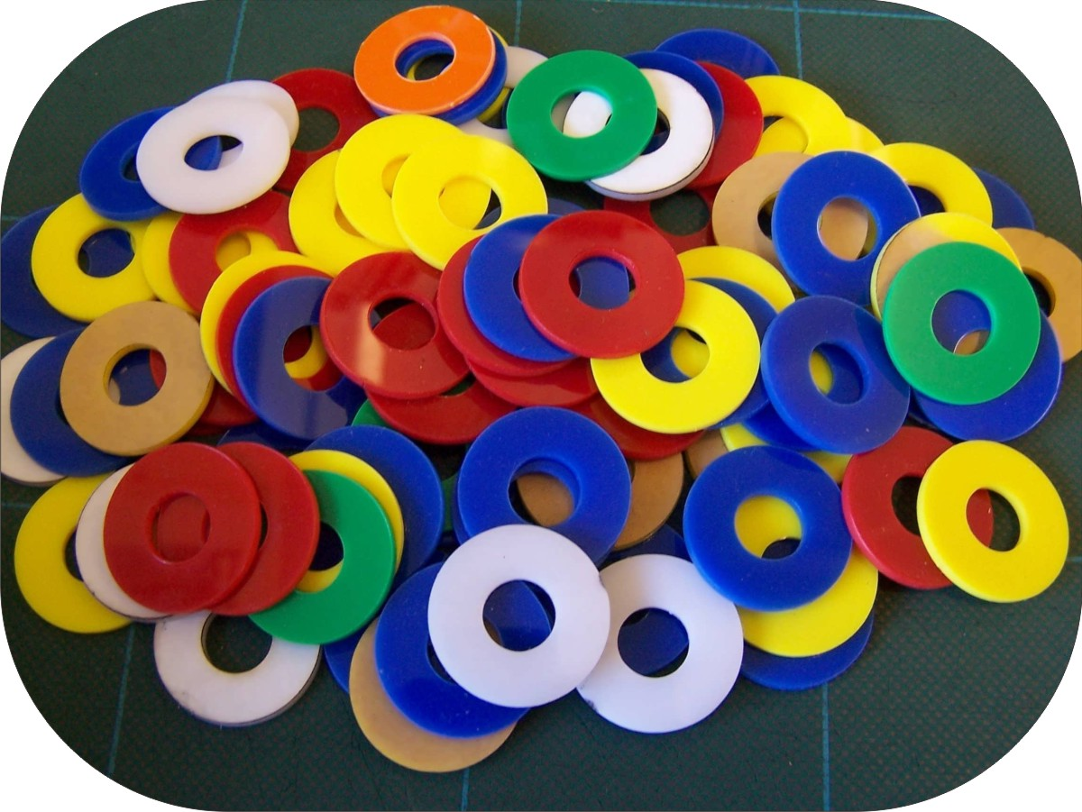 plastic disc with hole
